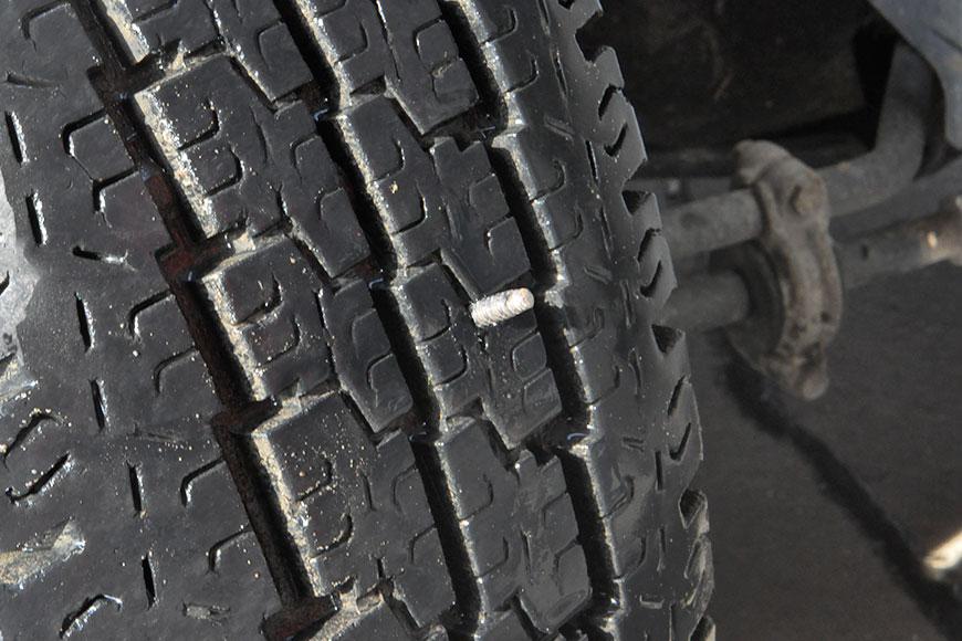 Foratura pneumatico